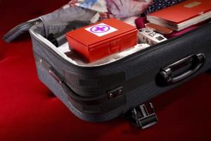 Una valigia contenete dei farmaci