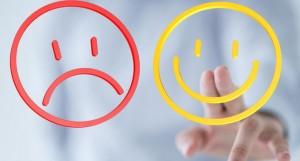 psicologi L'immagine rappresenta due faccine, una allegra una triste. Giornata nazionale della psicologia