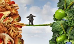 Proteina dell'obesità, una vignetta mostra un uomo grasso