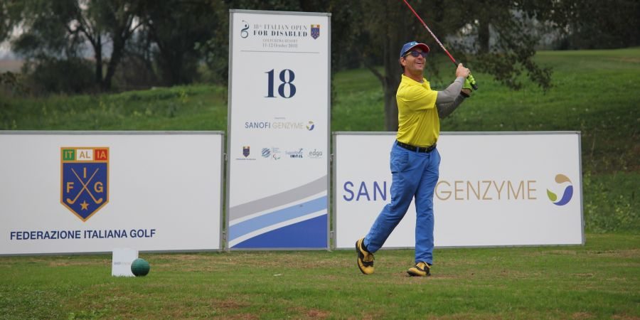 Torneo Open d'Italia Disabili – Sanofi Genzyme: leader lo svedese Bjorkman