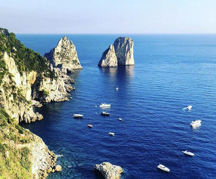 Capri, turisti positivi