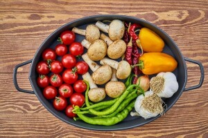 Alimentazione, Funghi e peperoni gialli