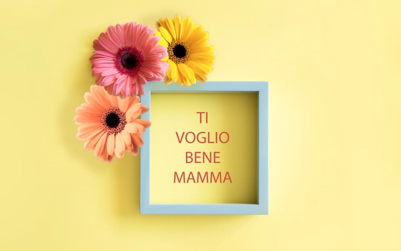 festa della mamma, un quadretto con dei fiori